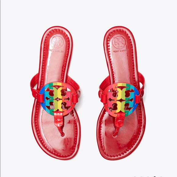 Nwt Tory Burch Miller In Rainbow Red